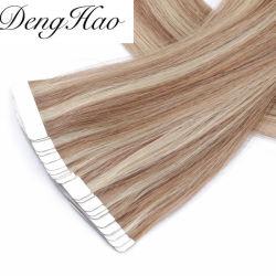سعر الجملة 12-28بوصة 100 ٪ الشعر البشري البرازيلي البكر ريمي شريط في الشعر