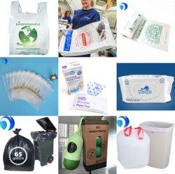 HDPE LDPE PLA Pbat リサイクル可能な生分解性エコプラスチック香り付きペット 犬のポープナピーのガベージの屑のひも Ziplock の食糧包装のベスト T シャツバッグファクトリー