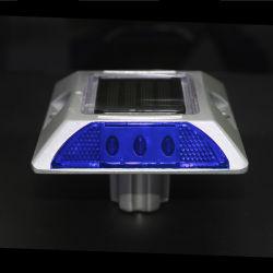 超明るさの青いパソコンのキャッツ・アイアルミニウム太陽LEDの交通安全の舗装のマーカーの道のスタッド