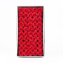 25 colori sapone 6cm Rose Fiori 50 PZ sapone artificiale Fiore teste Box