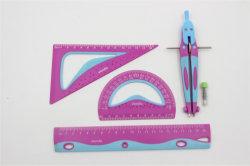 Gesetzte TPR+HIPS zwei Materialien des heißen des Verkaufs-Briefpapier-20cm Tabellierprogramm-verdoppeln Farben-Tabellierprogramm für Schule