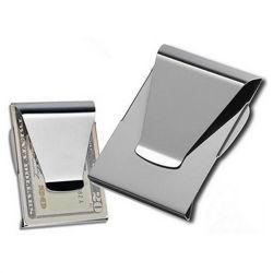Aço inoxidável Carteira Slim Cartão de Crédito titular de ID de dinheiro em Face dupla encaixar
