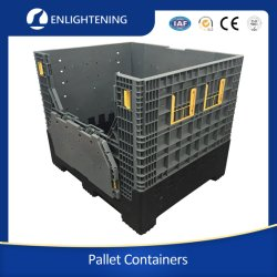 Большой/крупных промышленных HDPE для тяжелого режима работы склада хранения наращиваемые складывание/складные/симметричные Пластиковый поддон Bin/Box/контейнер для автомобильных деталей промышленности материально-технической