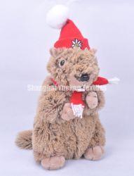 La peluche promozionale farcita del giocattolo dell'animale domestico del regalo della bambola di disegno del coniglio del giocattolo gioca il giocattolo dei capretti