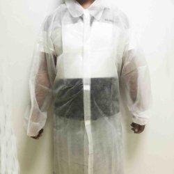 Одноразовые защитную ткань Non-Woven Lab слой нетканого материала рабочей одежды Одежда возросло крюк контур карты Magic