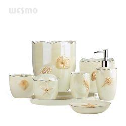 Быстрые заводские морскую тему доставки Pearlized керамическая ванная комната аксессуары