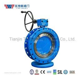 """연성 스테인리스 스틸 ANSI ASME AWWA EN1092 ISO7005 DIN Super Large DN3600(Inch144"""") 탄성 금속 시트 플랜지 편심 오프셋 디스크 버터플라이 밸브"""