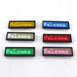 Batería recargable del portátil USB Mini magnético desplazamiento Mensaje electrónico programable enciende el LED parpadea Credencial