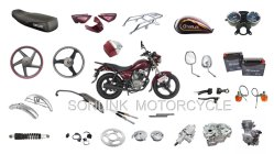 Dirt Bike CT100 Gn125 Cg125 قطعة غيار الدراجات النارية YAMAHA هوندا سوزوكي