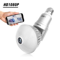360 정도 960p 전구 사진기 안전 소형 무선 E27 램프 사진기 Fisheye 파노라마 WiFi 통신망 이동 전화 리모트 모니터