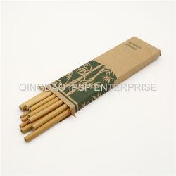 Cannuccia di bambù naturale con il marchio del laser