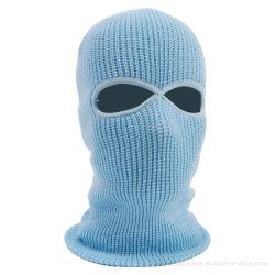 Kundenspezifischer weißer Knit-Winter Facemask Kopfschutz