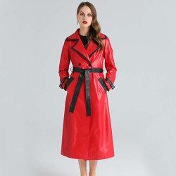 نساء رفاهية حمراء نحيلة طويلة فروة غنم [جنوين لثر] لباس