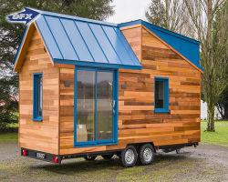 1 slaapkamer/2 slaapkamers modulair/geprefabriceerd/mobiel/draagbaar/economisch/klein/klein stalen constructie Trailer House on Wheels