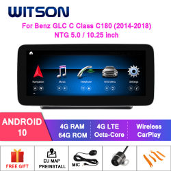 Mercedes-Benz Glyc C Class Ntg5.0용 Witson Android Car DVD GPS WiFi Bluetooth 차량 라디오