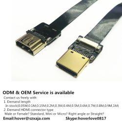 Xaja neuer 1.4 Mann der Versions-3D HDMI zu Mann-Handelsaudiovideoflexfarbband-Kabel-Kurzschluss 20cm 50cm 100cm 150cm