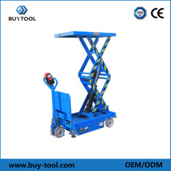 500 kg a 800 kg de capacidad eléctrica de la mesa elevadora de tijera doble