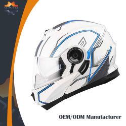 Casque de la CEE face ouverte casque casque de moto violet double écrans
