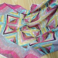 Geometrisches Muster druckte Tulle-Hochzeit gesticktes Chiffon- Spitze-Gewebe