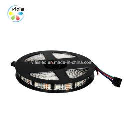5050 RGB魔法の多彩なWs2801デジタルの屈曲LEDのストリップ5V