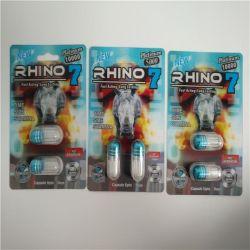 Azul/Vermelho Rhino 7 Platinum séries 5000/3000 sexual masculino Enhancement Pill bolhas/Caixas para homens de reforço de potência