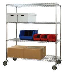 Долговечные промышленные металлические стеллажи стальная проволока, гараж складских стеллажей для монтажа в стойку для хранения с помощью колеса