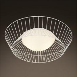 現代装飾的なホテルの円形の金属ガラスLEDの天井灯
