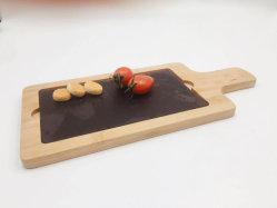 Placa de corte de bambu com Slate