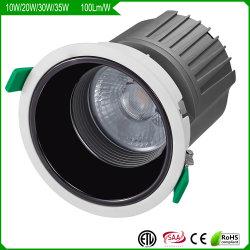 12W-35W 상점을%s 반대로 글레어 흔들림 자유로운 LED 반점 또는 아래로 또는 천장 빛