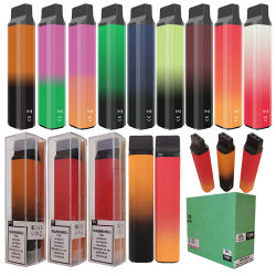 Les gousses Vape jetables Design Pack unique Automizer Produits Stylo personnalisé de la cartouche de vapeur 1500 bouffées de cigarette électronique de bord
