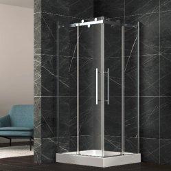 ステンレス鋼のハンドルが付いているアルミ合金の正方形のシャワー機構部屋