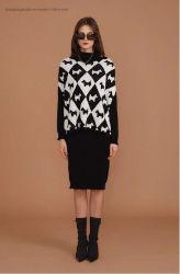 Tissus de laine tricotés du Intarsia robe superposée B100064s