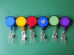 Supporti di distintivo ritrattabili della modifica di nome della scheda chiave di identificazione della bobina del distintivo