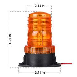 Luz âmbar farol de Perigo no último piso de emergência luz estroboscópica