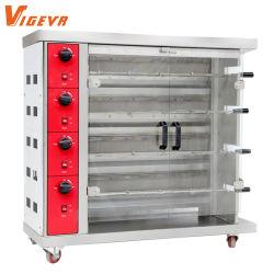 Neuer Rodrotisserie-Gas-Ofen der Röster-Maschinen-4, zum des Hühner 16PCS BBQ-Gitters zu braten