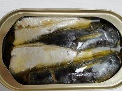 Sardinas enlatadas y conservas de atún Caballa 125 155g 425g de comida de mar