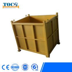 La logística de almacén de apilamiento de galvanizado de almacenamiento de contenedores de malla de alambre de acero cajas de metal para Pet Prefrom Storage