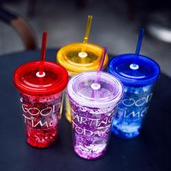 450ml Kop van het Water BPA van de flits de Transparante Vrije Plastic met Stro