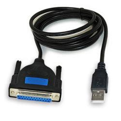 USB para Serial dB25 25pino porta paralela do computador do adaptador de cabo de alimentação da impressora