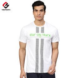 Пользовательские цвета обычная ткань из 100% хлопка спорта Tshirt