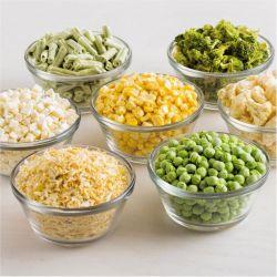 China liofilizado de zanahorias, maíz dulce, guisantes y espárragos y cebolla o ajo/Batata/Brócoli/judías verdes y calabaza/verduras