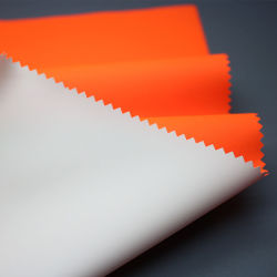 Commerce de gros tissu tissu réfléchissant jaune fluorescent avec revêtement pour vêtements de travail