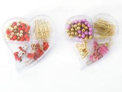 사무용품 책상 문구용품 참신 플라스틱 심혼 상자는 종이 클립 강요 Pin 바인더 클립을 포장했다