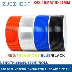 고압 프레스실 에어 컴프레서용 공압 구성 요소 PU 파이프 Od16mm * ID12mm