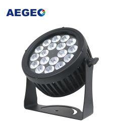 El edificio exterior PAR LED DMX IP65 18 uds. de 15W RGBW 4en1 LED PAR resistente al agua de la luz de la etapa puede