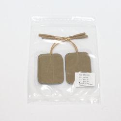 갈색 접착식 물리치료 전극 패드 - 45X60mm로 10개 이상