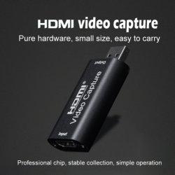 Placa de captura de vídeo streaming da placa de captura de vídeo HDMI Placa Vhs Capture gravador de cartões USB 2.0