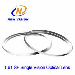 1.61 Mr-8 반마감 단일 비전 하드 코팅 광학 렌즈