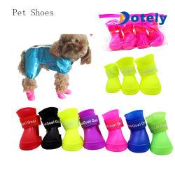 Caucho resistente al agua de lluvia para Mascotas Gatos zapatos botines