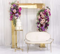Wedding Walkway Stage Decoration를 위한 주문품 Gold Square Shape Stainless Steel Metal Arch